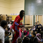 The famed Harlem Globetrotters, an exhibition basketball team, encourage physical activity among elementary school students. In Harlem, more than 25% of children are obese and more than 40% overweight or obese. - Oakland Local