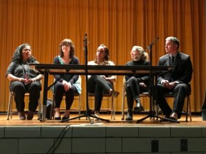 Panelists at the film screening in Kingston, NY