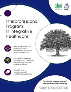 Page with information about the Interprofessional Program in Integrative Healthcare