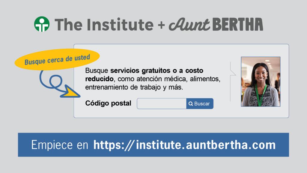 Screenshot of institute.auntbertha.com